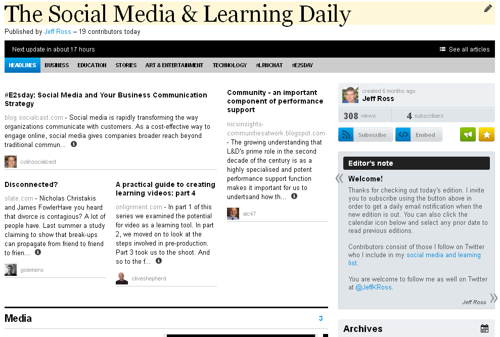 The Social Media & Learning Daily