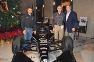 Driver Oriol Servia, Jeff Ross & Humana CEO Mike McCallister