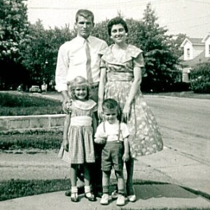 Jeff's parents Jack & Virginia Ross, sister Stephania, and Jeff (around 1960)