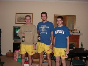 Brian, Jason and me sporting our Kentucky and Ale-8 gear