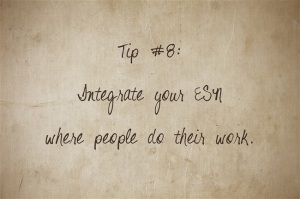 Tip8ForSuccessfulESN