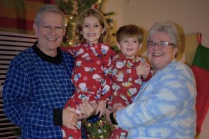 Christmas 2016 family pajama party